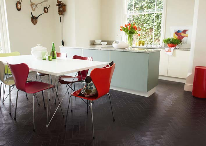black oak vinyl flooring Bath